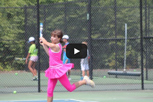 Tennis Camps - Girl Backhand Practice