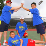 Tennis Camp - Group Tennis Campers Camaraderie