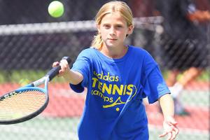Girl Returning Volley