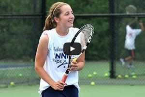 Girls Tennis Player Ready for Shot