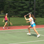 Tennis Camps - Girls Tennis Players On Court