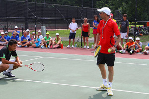 Tennis Camp - Tennis Camper Coaches Ira Miller Ramapo College