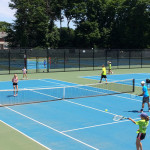Tennis Camps - Aerial View of Tennis Match