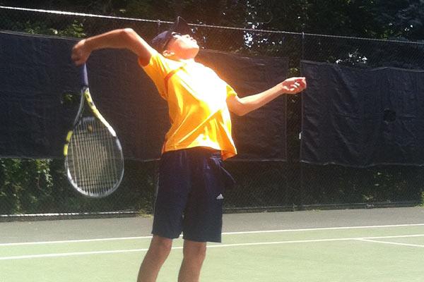 Tennis Camps - Boy Tennis Serve