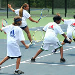 Tennis Camps - Coaching Backhand Shots