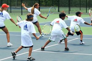 Tennis Camps - Coaching Backhand Shots