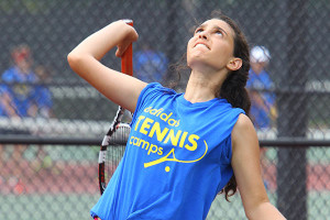 Tennis Camps - Girls Serving