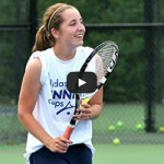 Girls Tennis Player Ready for Shot