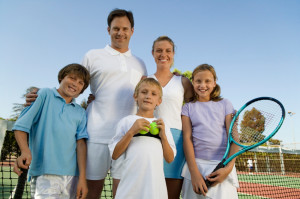 Family Tennis Players - Training